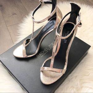 NWB Rachel Zoe Tee T-Strap Sandal-Hematite